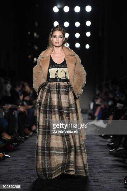 Doutzen Kroes walks the runway at the Max Mara show during Milan Fashion Week Fall/Winter 2018/19 on February 22 2018 in Milan Italy
