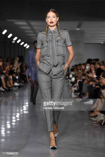 Doutzen Kroes walks the runway at the Max Mara show during the Milan Fashion Week Spring/Summer 2020 on September 19 2019 in Milan Italy