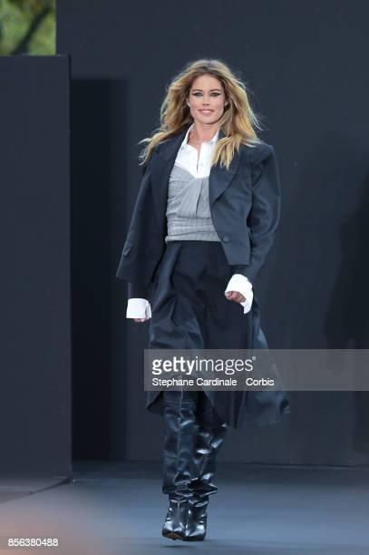 Doutzen Kroes walks the runway during the Le Defile L'Oreal Paris Spring Summer 2018 show as part of Paris Fashion Week at Avenue des ChampsElysees...