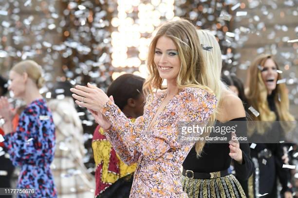 "Doutzen Kroes walks the runway during the ""Le Defile L'Oreal Paris"" Show as part of Paris Fashion Week on September 28, 2019 in Paris, France."