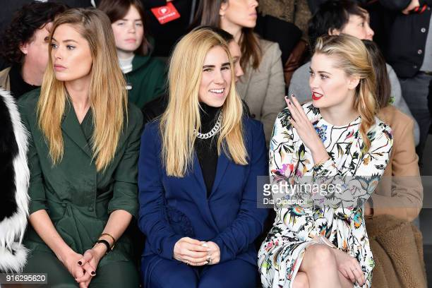 Doutzen Kroes Zosia Mamet and Virginia Gardner attend the Jason Wu front row during New York Fashion Week The Shows at Gallery I at Spring Studios on...