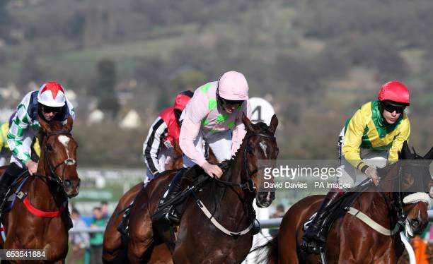 Douvan ridden by Ruby Walsh in the Betway Queen Mother Champion Chase during Ladies Day of the 2017 Cheltenham Festival at Cheltenham Racecourse