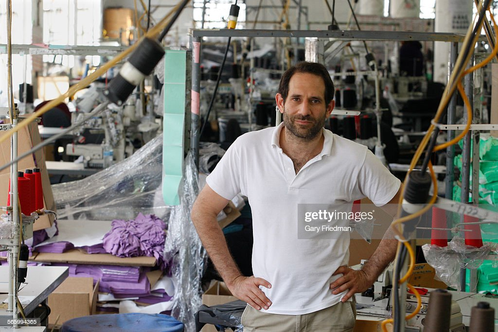 Dov Charney, Senior Partner of American Apparel, is photographed at the factory in downtown Los Ang : News Photo