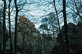 dovbush rocks ukraine landscaped photos autumn
