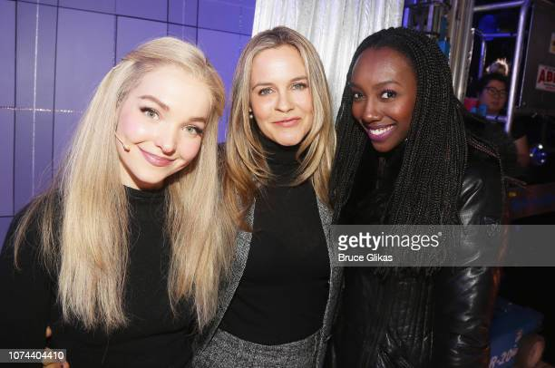 Dove Cameron Alicia Silverstone and Zurin Villanueva pose backstage at The New Group production of 'Clueless The Musical' based on the iconic 1995...
