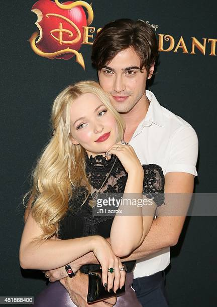 Dove Cameron and boyfriend Ryan McCartan attend the premiere of Disney's 'Descendants' at Walt Disney Studios main theater on July 24 2015 in Burbank...