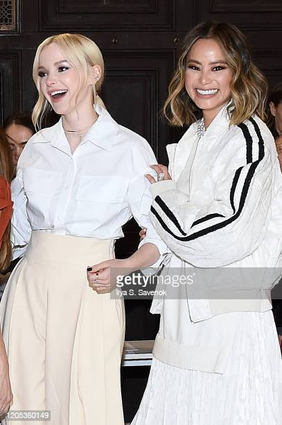 Dove Cameron and Jamie Chung attend the ADEAM Fall | Winter 2020 SHOW at the High Line Hotel on February 10 2020 in New York City