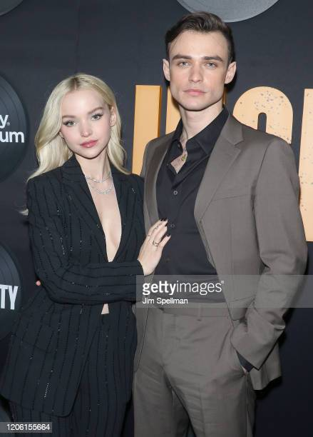 "Dove Cameron and Thomas Doherty attend the Hulu's ""High Fidelity"" New York premiere at Metrograph on February 13, 2020 in New York City."