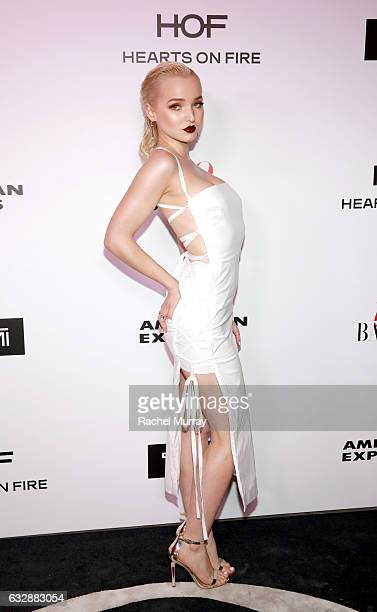 Dove Cameron attends Harper's BAZAAR celebration of the 150 Most Fashionable Women presented by TUMI in partnership with American Express La Perla...