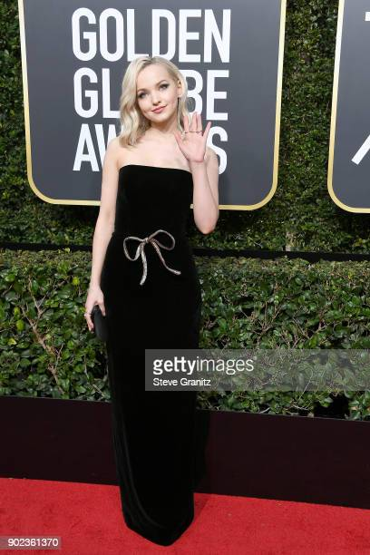 Dove Cameron attends The 75th Annual Golden Globe Awards at The Beverly Hilton Hotel on January 7 2018 in Beverly Hills California