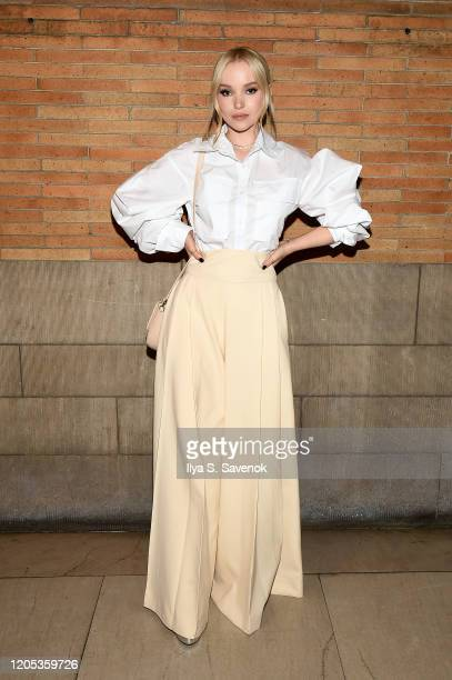 Dove Cameron attends the ADEAM Fall | Winter 2020 SHOW at the High Line Hotel on February 10 2020 in New York City