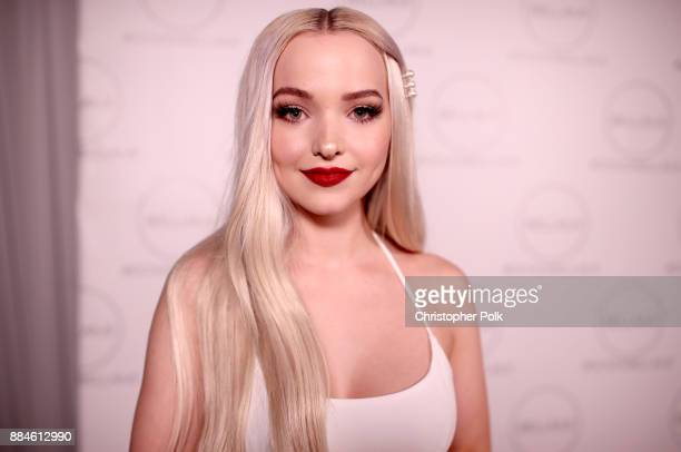 Dove Cameron attends the Dove x BELLAMI Collection launch party hosted by Dove Cameron and BELLAMI Hair at Unici Casa Gallery on December 2 2017 in...