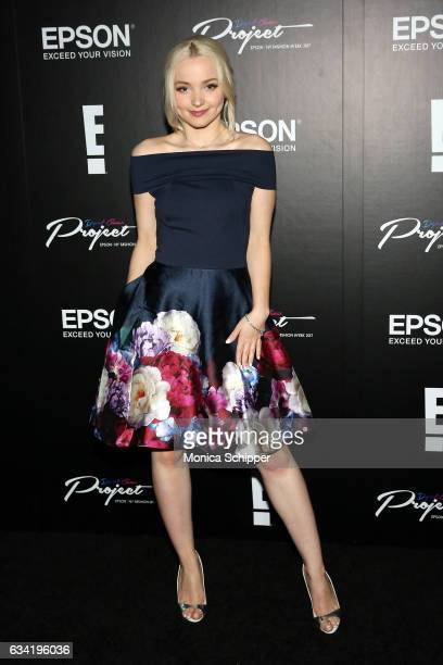 Dove Cameron attends the Epson Digital Couture Presentation February 2017 during New York Fashion Week at IAC Building on February 7 2017 in New York...