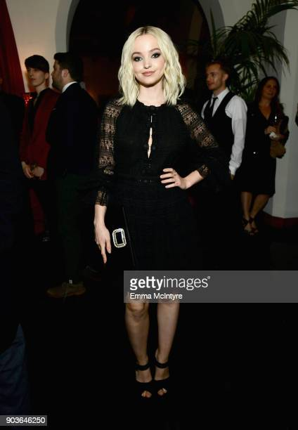 Dove Cameron attends Vanity Fair And Focus Features Celebrate The Film Phantom Thread with Paul Thomas Anderson at the Chateau Marmont on January 10...