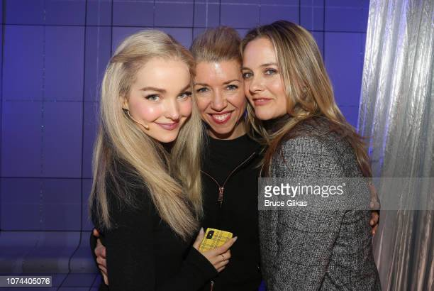 Dove Cameron Choreographer Kelly Devine and Alicia Silverstone pose backstage at The New Group production of 'Clueless The Musical' based on the...