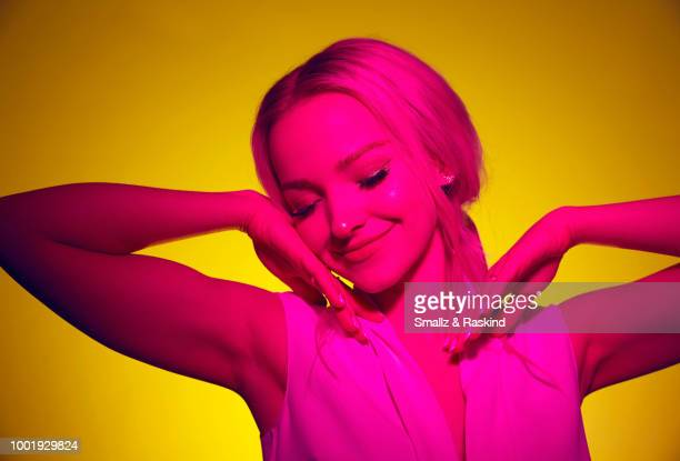 Dove Cameron from 'Marvel Rising Secret Warriors' poses for a portrait in the Getty Images Portrait Studio powered by Pizza Hut at San Diego 2018...