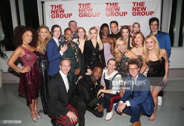 Dove Cameron poses with the cast at the opening night after party for the new musical based on the iconic film Clueless at The Green Fig Urban Eatery...