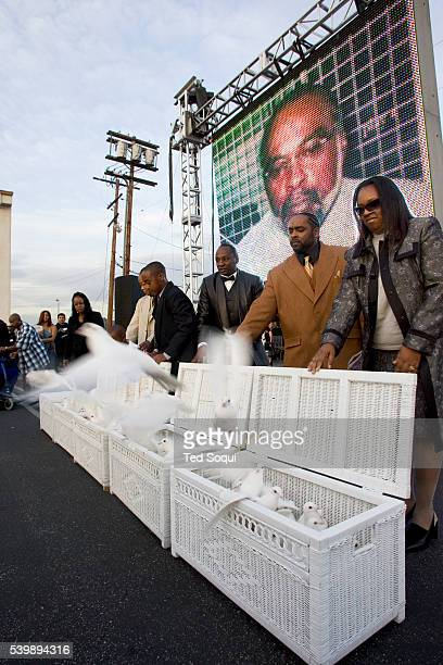 Dove release at the funeral services for Stanley 'Tookie' Williams at Bethel AME Church in South Central Los Angeles Approx 2000 people attended the...
