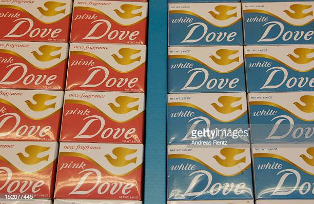 Dove soap packages are pictured in the historical Tesco super market at the Goodwood Revival 2012 on September 16 2012 in Chichester United Kingdom