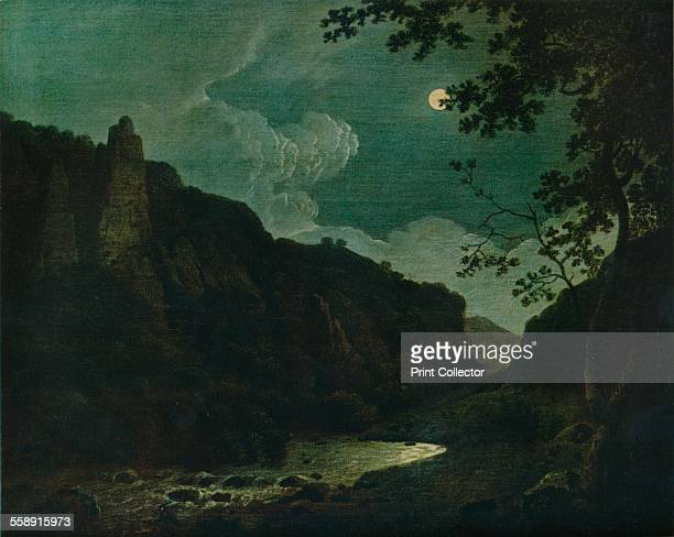 'Dovedale by Moonlight' 1784 Painting housed in the Derby Museum and Art Gallery Derby From The Connoisseur Volume LXXXVII edited by C Reginald...