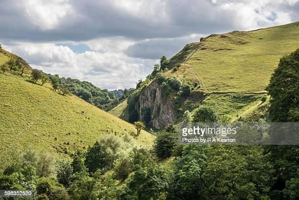 Dovedale in summer, Peak District national park, England