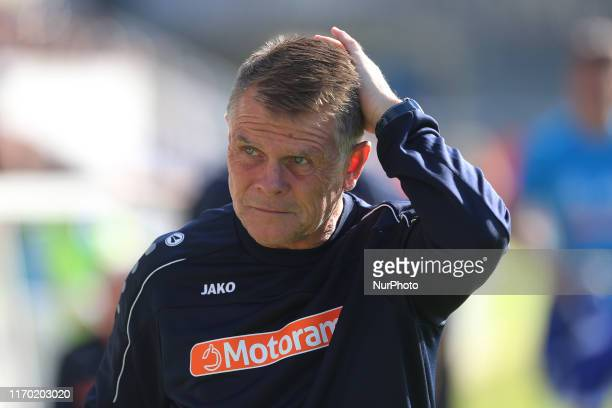 Dover Athletic manager Andy Hessenthaler during the Vanarama National League match between Hartlepool United and Dover Athletic at Victoria Park...