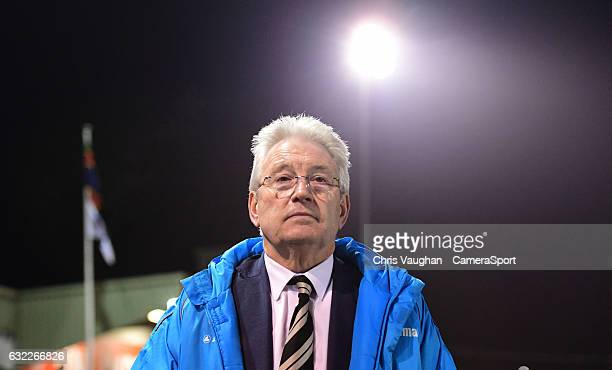 Dover Athletic manager Chris Kinnear during the Vanarama National League match between Lincoln City and Dover Athletic at Sincil Bank Stadium on...