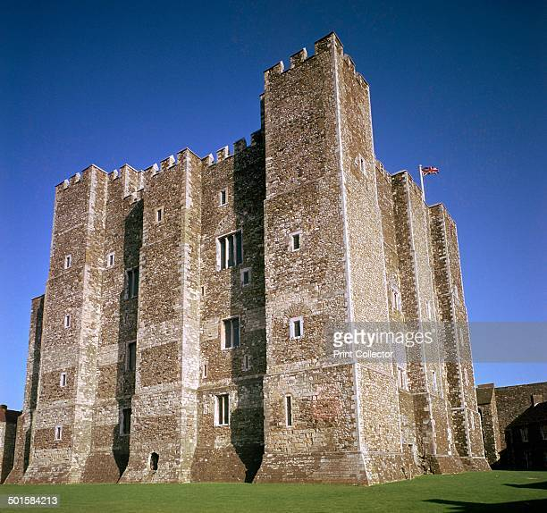 Dover Castle Walls a late Norman castle originally constructed by William I 12th century