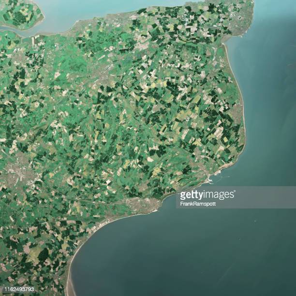 dover england 3d render aerial top view may 2019 - frank ramspott stock pictures, royalty-free photos & images
