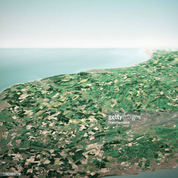 dover england 3d render horizon aerial view from north may 2019 - frank ramspott stock pictures, royalty-free photos & images