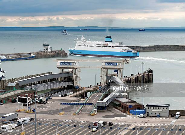 dover ferry port, kent, uk - ferry stock photos and pictures