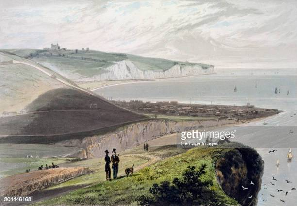 Dover from Shakespeare's Cliff Kent 1829 From A Voyage Around Great Britain Undertaken between the Years 1814 and 1825 by William Daniell 1829 Artist...