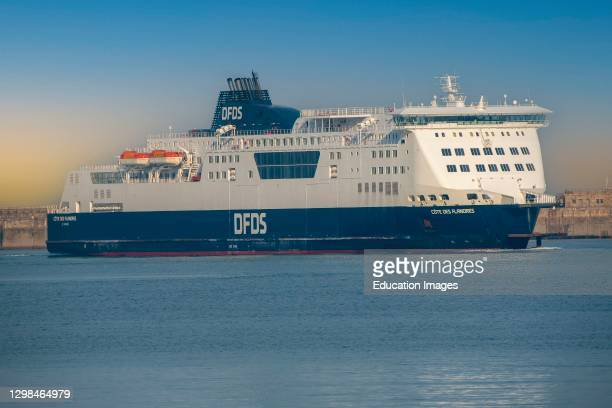 Dover, Kent, England, UK, A cross channel ferry the Cote des Flandres departing the Port of Dover..
