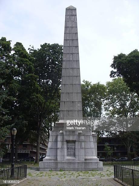 Dover Patrol Memorial in John Paul Jones Park, Brookyln, New York City, New York. This memorial is dedicated to those who served in the Dover Patrol...