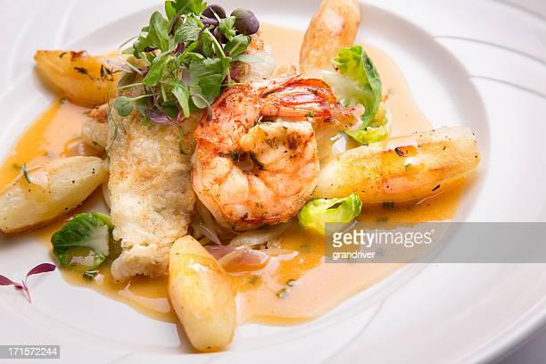 Dover Sole Fillet and Shrimp