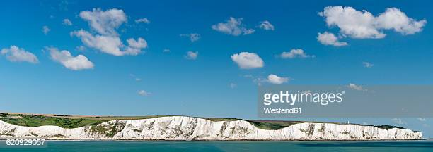UK, Dover, view chalk cliffs