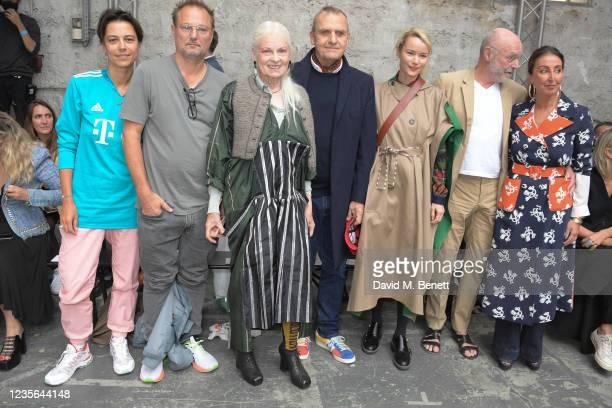 Dovile Drizyte, Juergen Teller, Dame Vivienne Westwood, Jean-Charles de Castelbajac, Pauline de Drouas, Anselm Kiefer and guest attend the Vivienne...