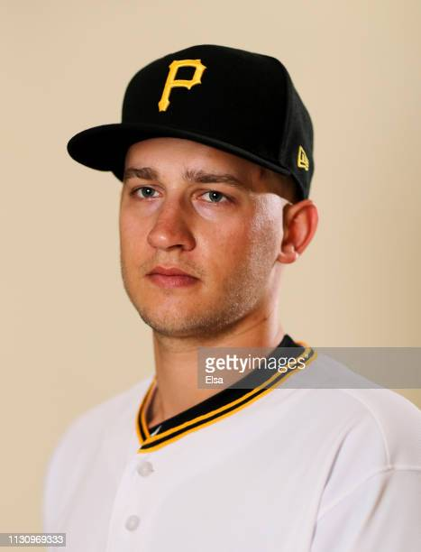 Dovydas Neverauskas of the Pittsburgh Pirates poses for a portrait during the Pittsburgh Pirates Photo Day on February 20, 2019 at Pirate City in...