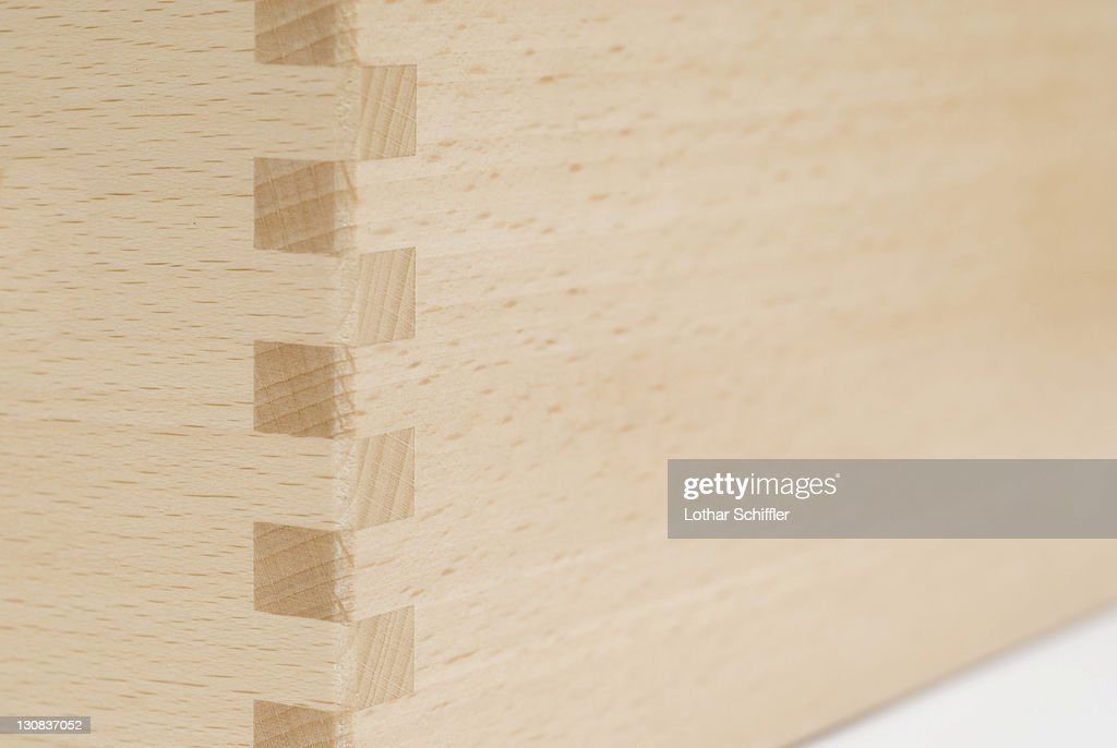 Dowel Joint Of Beechwood Boards Stock Photo Getty Images