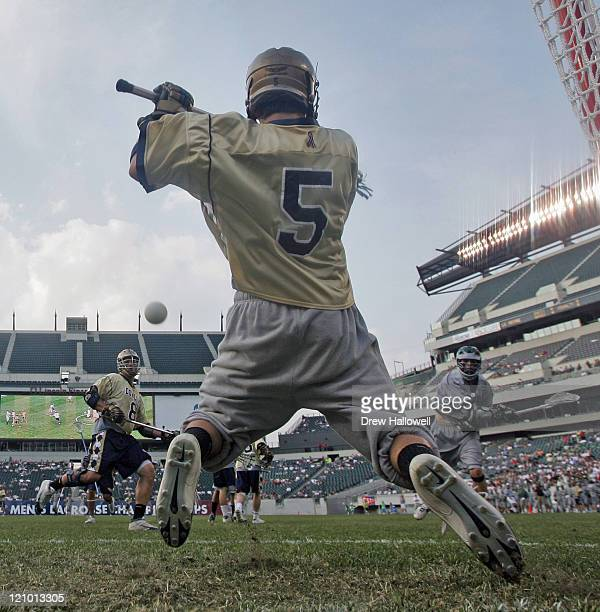 Dowling goalie Nick Tracey makes a save in the Division II Lacrosse Finals Sunday, May 28, 2006 at Lincoln Financial Field in Philadelphia, PA. Le...