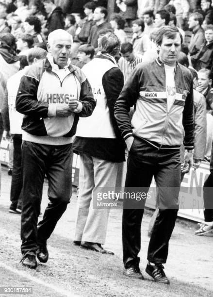 Down and Out Pictured leaving Villa Park with coach Ron Wylie after the side's 21 defeat to Sheffield Wednesday ending a 12 year spell in Division...
