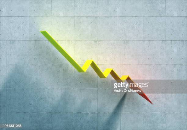 down arrow - decline stock pictures, royalty-free photos & images