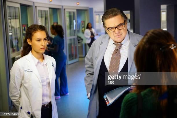 MED 'Down By Law' Episode 310 Pictured Rachel DiPillo as Sarah Reese Olivier Platt as Daniel Charles