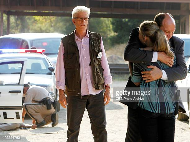 "Down"" -- D.B. Russell watches as Conrad Ecklie hugs his daughter Morgan Brody , on CSI: CRIME SCENE INVESTIGATION, Wednesday, Oct. 19, 2011 on the..."
