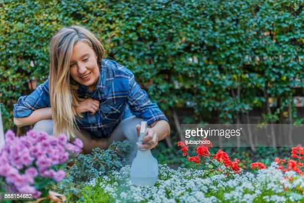 Beneden in de tuin