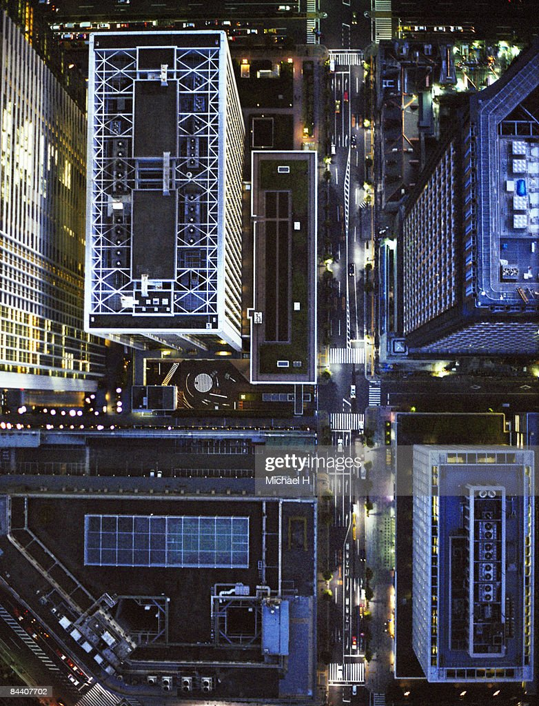 A down shot from the Tokyo sky : Stockfoto