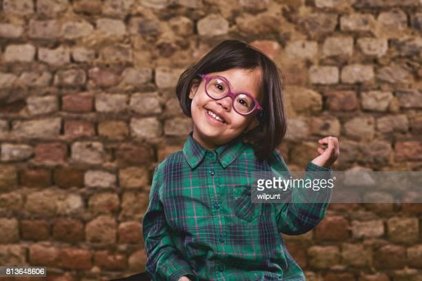 Linda chica de síndrome de Down