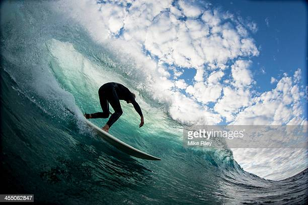 down the line with clouds - surf stock pictures, royalty-free photos & images