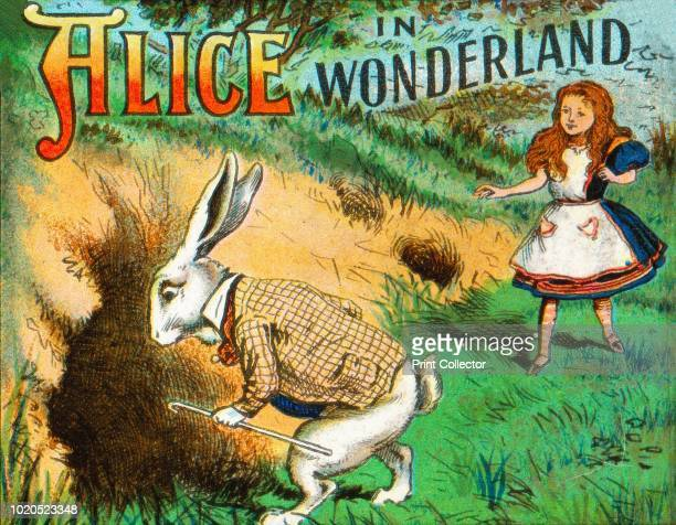 Down the Rabbit Hole' circa 1900 After the illustrations by John Tenniel From Coloured Lantern Slides Primus Junior Lecturers' Series No 776 Alice in...