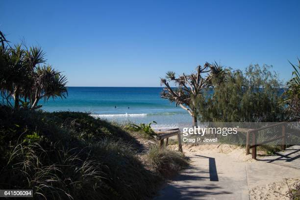 down to the pacific at peregian - sunshine coast australia stock pictures, royalty-free photos & images
